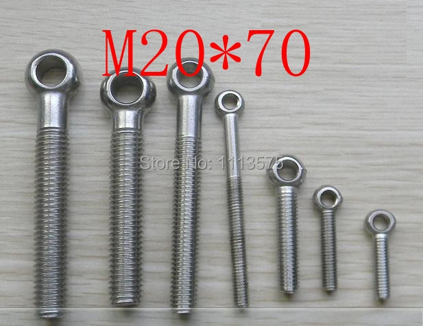 M20*70 304,321,316 stainless steel eye bolt,eye nuts and bolts fasterner hardware,stud articulated anchor bolt free shipping m14 45 carbon bolt hardware nuts and bolts 2 pcs lot
