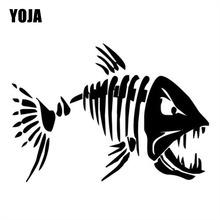 YOJA 17 8 * 12 6 CM szalona ryba śmieszne naklejka okno dekoracji naklejki winylowe akcesoria motocyklowe C4-0750 tanie tanio Wzór zwierzęcy Naklejka klejąca 17 8 cm Kreskówki Całe ciało Nie pakowane Nadwozie samochodowe Winylu Czarny srebrny