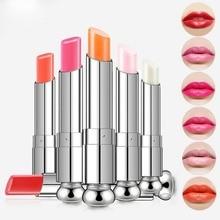 Maquiagem Batom Moisturizing Waterproof Matte Lipstick Long Lasting Lip Balm Change Color Olive Fruit Oil Lip balm Free Shipping