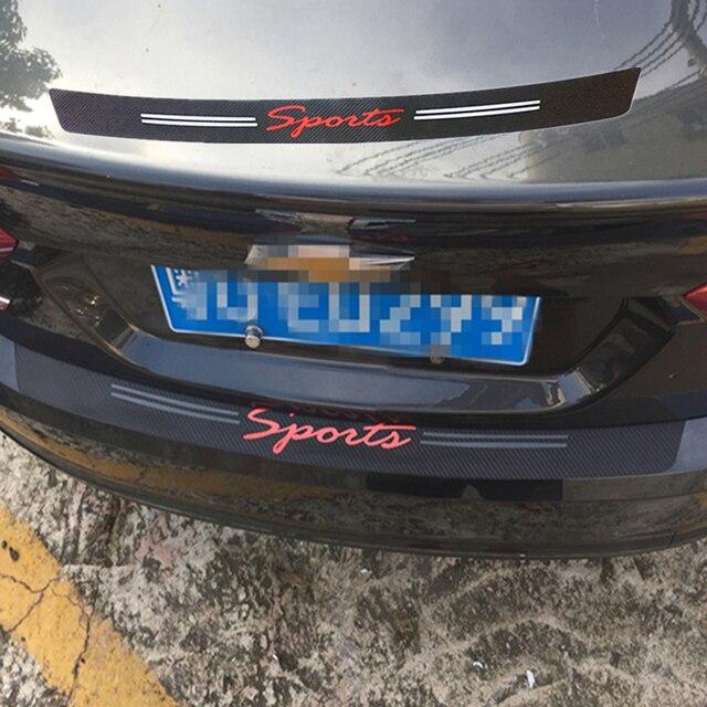 Car styling Rear Bumper Trunk Door Stickers For Opel Astra J G Insignia  Vectra c Mazda 3 6 cx 5 Subaru Abarth Trim Accessories-in Car Stickers from