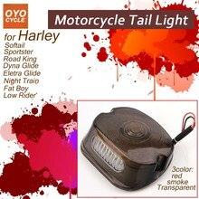 купить LED Tail Light For Harley Sotail Davidson XL 883 1200 Sportster Integrated Motorcycle Turn Signal Light Tail Stop Warning Lamp онлайн