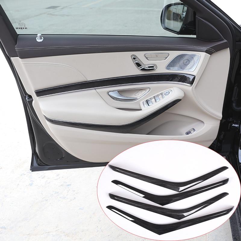 4pcs/set For Mercedes benz W222 S Class S320 2014-2017 Car-styling ABS Dark Wood Grain Interior Door Decotation Strips Trim 4 door mercedes m class 1998 2004 nld smerm9832