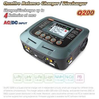 Зарядное устройство Skyrc Q200 QUATTRO AC/DC 2X100 Вт 2X50 Вт Lipo Батарея баланс Зарядное устройство Dis Зарядное устройство для радиоуправляемых моделей ав...