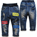 3735 baby boy jeans niños embroma los pantalones vaqueros casuales pantalones de mezclilla suave bebé niños pantalones de los niños de azul marino moda