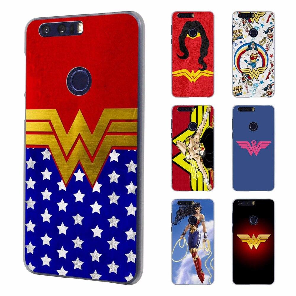 Wonder Woman костюм Цвета Стиль ультра тонкий чехол для телефона для Huawei Honor 8 Lite V8 7 Чехол для Honor 4C 5C 4x 5x