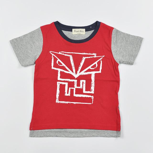 2016 novo verão meninos meninas monstro Pequeno 100% algodão T-shirt roupas para crianças boys & girls t-shirt conjunto roupa de crianças