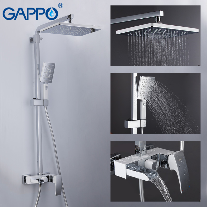 GAPPO Sanitary Ware Suite brass tap chrome bathroom bath faucet mixer shower faucet with basin tap