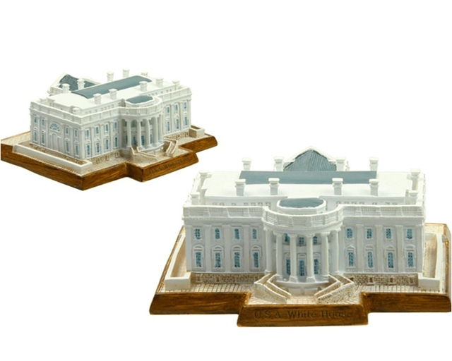 Hot Sale U.S White House Creative Resin Crafts World Famous Landmark Model  Tourism Souvenir Gifts Collection