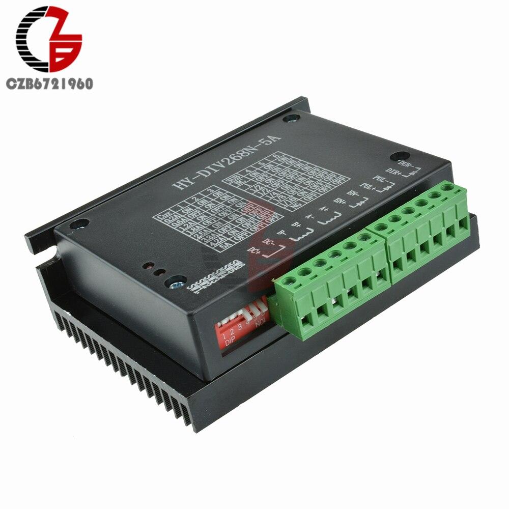 TB6600 4A 5A 1 Ось Драйвер шагового двигателя плата контроллера DC 12 в-48 в 2 4 фазы Гибридный двигатель с ЧПУ управления приводом для Arduino