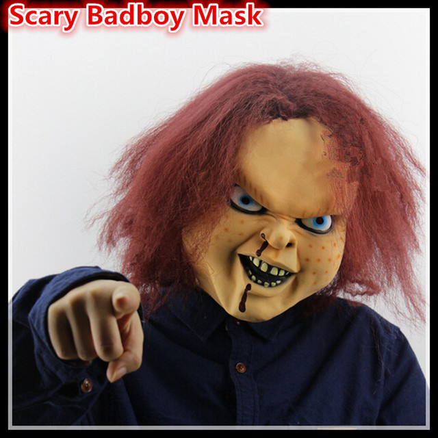 Freies Verschiffen Cosplay Creepy Scary Chucky Latex Maske Horror