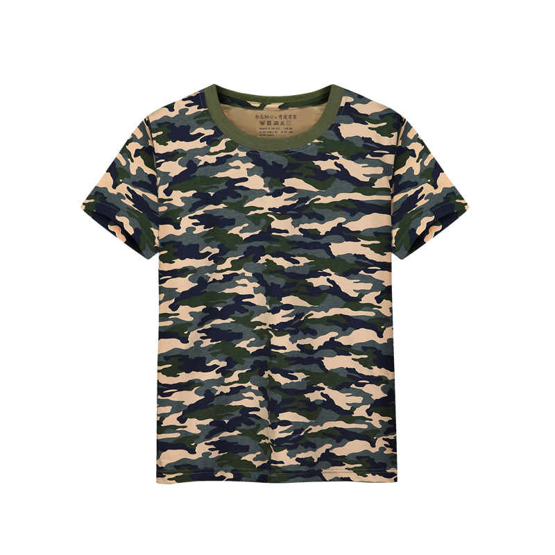 5pcs/lot Boys t shirts girls tshirt camouflage for kids cotton striped solid summer tops 15 colors short sleeve children t-shirt