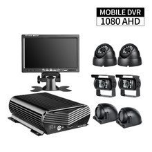 8CH AHD Harde Schijf Auto Beveiliging Mobiele DVR Kit Video Recorder I/O PC Afspelen, 7 inch LCD Monitor, 6 stks Bus Vrachtwagen Vrachtwagen Taxi Camera(China)