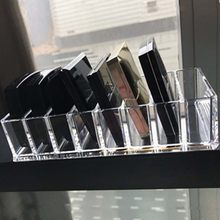New Solid Acrylic Cosmetics Makeup Organizer Show Shelf Rack Durable Desk Nail Polish Lipstick Storage Box Desk Organizer Box(China)