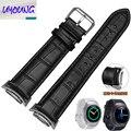 UYOUNG Для Samsung Gear S2 R720 Smart Watch Bands Роскошные Подлинная Кожаный Ремешок Для Часов Наручные Ленты Замена Для Samsung