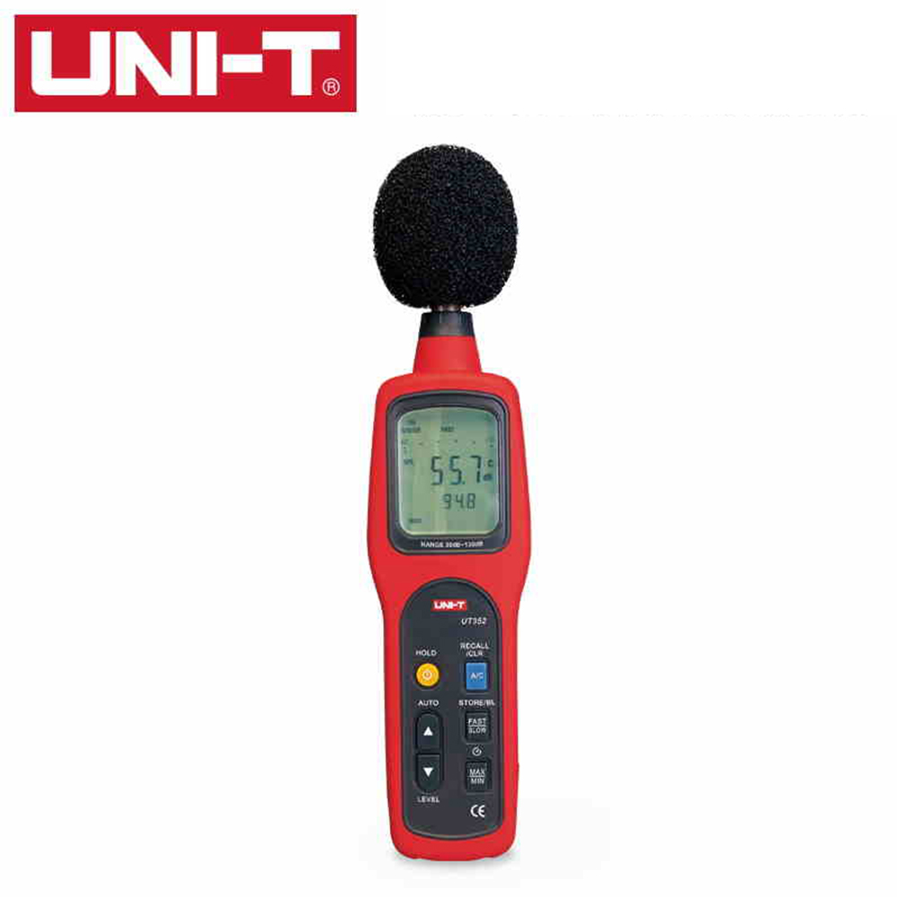 UNI-T UT352 Sound Level Meters 30~130dB 31.5H~8000Hz Noise Monitor TesterFrequency 31.5Hz~8000Hz with Alarm Function uni t ut353 mini digital sound level meters 30 130db instrumentation noise decibel monitoring testers metro diagnostic tools