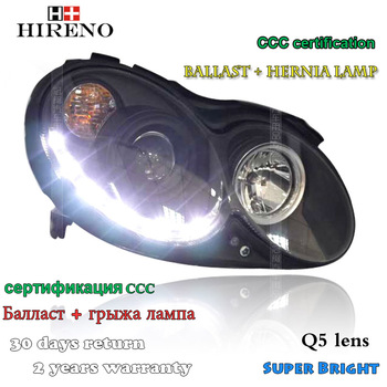 Hireno Headlamp for Mercedes-Benz CLK200 CLK230 CLK280 CLK320 Headlight Assembly LED DRL Angel Lens Double Beam HID Xenon 2pcs