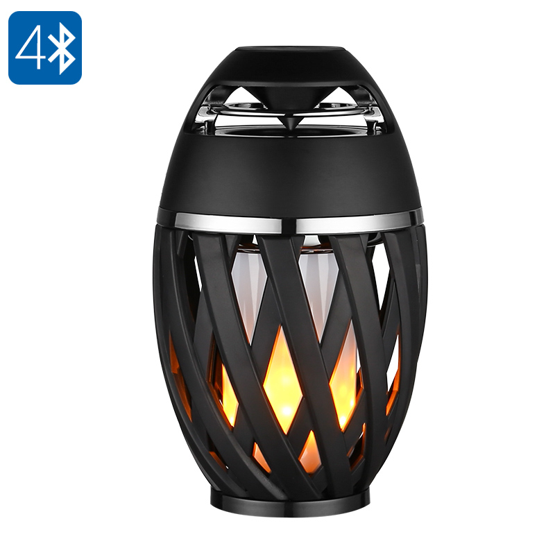Creative Mood Lamp Bluetoot 4.2 Speaker with tourch LED Light,flame atmosphere Bonfire Lights Effect Wireless Stereo Loudspeaker skull 3d cartoon usb mood led lamp creative atmosphere table lamp