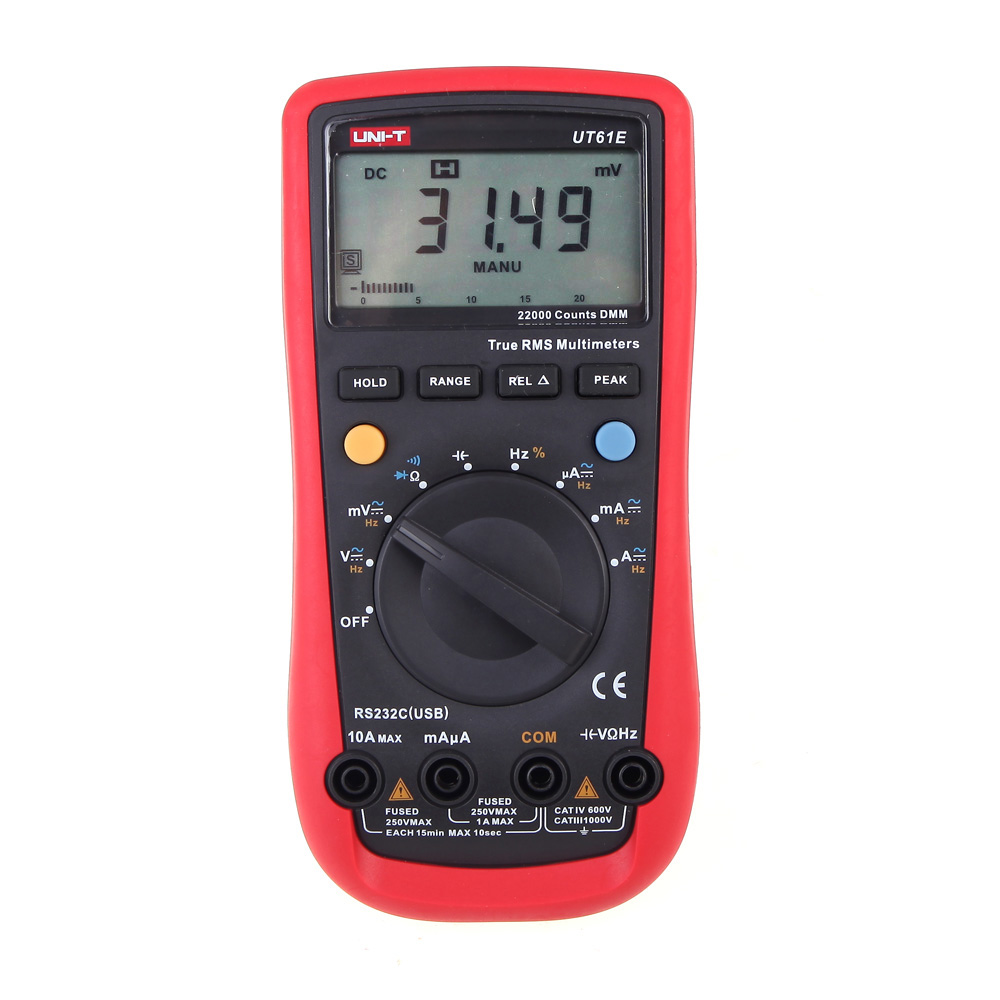 Modern LCD Display Digital Multimeters Electrical Handheld Tester Multimetro Ammeter Multitester UNI T UT61E