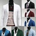 Envío Gratis 2015 Últimas 8 colores de Los Hombres Novio Trajes de Boda Delgado Adolescentes Moda Azul Chaquetas de Traje Formal Masculino Vino Chaquetas de color rojo