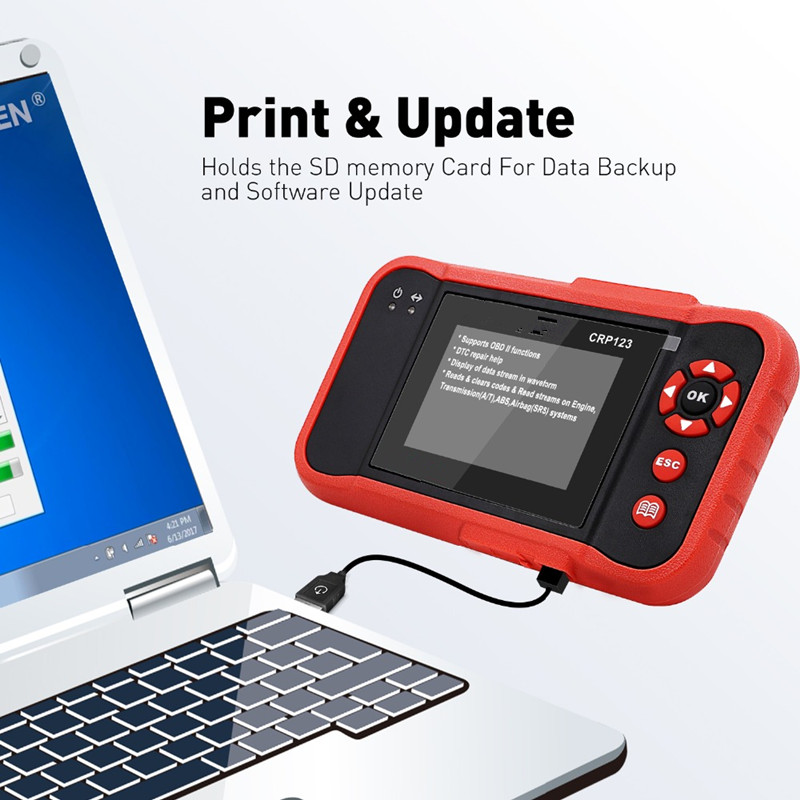 OBDII Code Reader Scanner Test Engine/ABS/SRS/AT CRP123 Auto Diagnostic Tool - 3