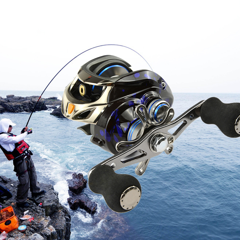 12+1BB Six Pin Centrifugal Brake System Fishing Reel Gear Ratio 6.3:1 Left/Right Hand Baitcasting Fishing Reel Fishing Tackle