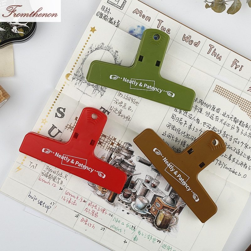 2019 Retro Color Paper Clip Binder Clips For Midori Traveler's Notebook Decorative Accessories Japanese Vintage Stationery Store