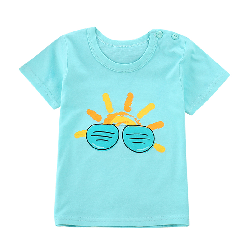 Summer 2018 New Boys Girls T-Shirts Children Clothes Short Sleeve Stripe Boys Cotton Shirts Colorful Kids GirlsTee Shirt Tops 2016 summer boys short sleeved t shirt two piece children s sports suit camouflage uniforms boys