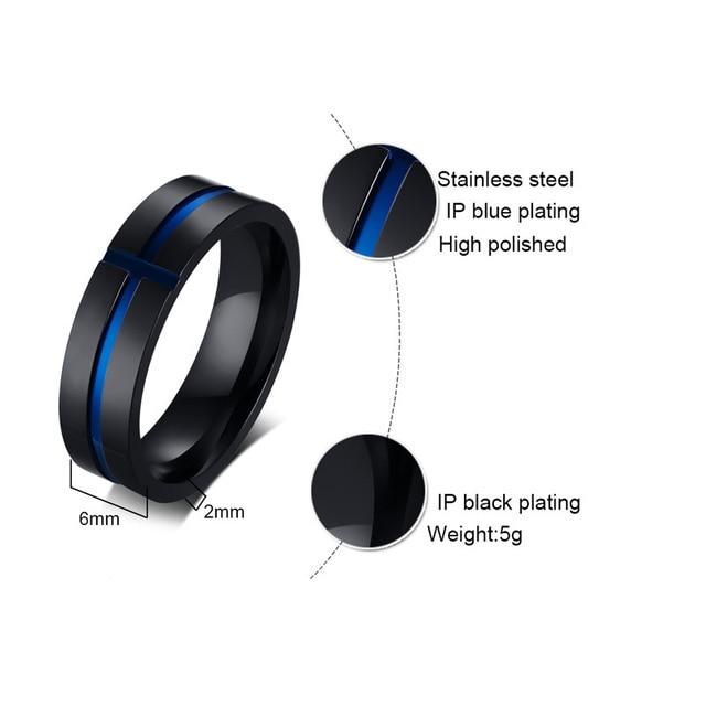 мужское кольцо recom d из нержавеющей стали простое ювелирное фотография