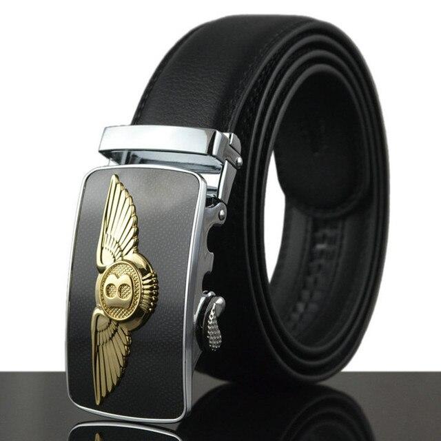2016 New Men Belt For Jeans Luxury Belt Real Cowskin Leather Automatic Buckle Belt Strap Mens Designer Belts military belt Q209
