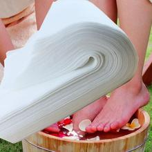 1000 Pieces White Disposable Shop Towels Recycled Fiber Towel for Foot Massage Bath