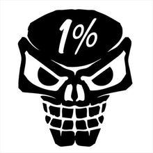 10.2CM*12.3CM Outlaw biker 1%er Skull Street Outlaws Fits All Motorcycles Car Sticker Styling And Decals Black/Sliver C8-0687(China)