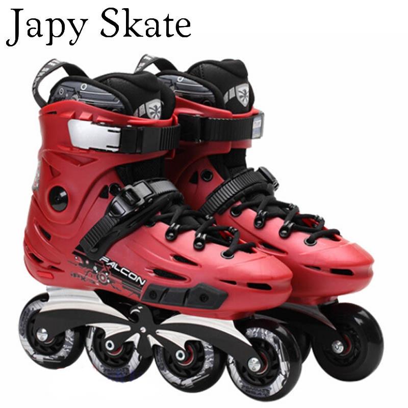 Prix pour Jus japy Skate Flying Eagle F6 Patins À Roues Alignées Avec 8 D'origine Hyper Roues Faucon Rouleau Chaussures De Patinage Slalom Livraison De Patinage Patines
