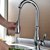 Smesiteli 100 Brass Polished Chrome Or Brushed Nickel Finish Single Hole Kitchen Faucet With Pull Out