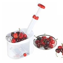 Novelty Super Cherry Pitter Easy Cherry Fruit Core Seed Remover Fruit with plastic container Kitchen Tool Accessories JK0970