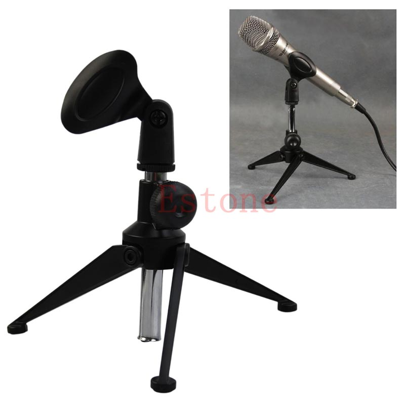 1 PC New Adjustable Metal Desktop Table Mic Microphone Clamp Clip Holder Stand Tripod