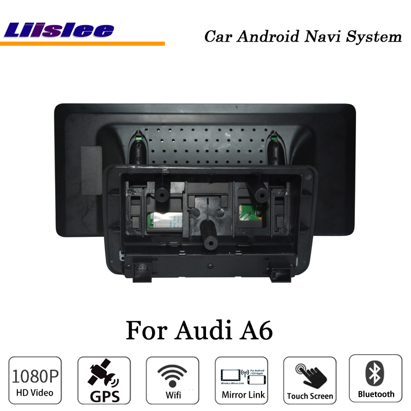 Liislee 10.25 Inch Car Android Multimedia For Audi A6 Blu-ray Anti-Glare Stereo Carplay GPS Navi Map Navigation Original System-6