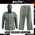 Alemán invierno gris paño M36 soldado algodón campo túnica y uniforme de/505101