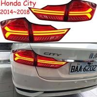 1set Car Bumper taillight for Honda City rear light 2014~2018y car accessories LED taillamp for City fog light
