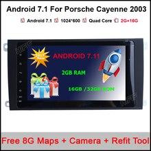 Android 7.1 Quad Core 8 pulgadas CarRadio playerFor Porsche Cayenne 2003 2004 2005 2006 2007 2008 2009 2010 GPS de Radio del coche de Navegación
