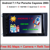 Android 7 1 Quad Core 9 Inch Car DVD Player For Porsche Cayenne 2003 2004 2005