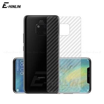 Перейти на Алиэкспресс и купить Защитная пленка на заднюю панель для Huawei Mate 30 RS 20 20X X 5G 10 9 Lite Pro из углеродного волокна, защитная пленка, не стекло