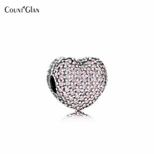 2017 Jours Authentique 925 Sterling Argent Ouvert Mon Coeur de Valentine Rose CZ Clip Charm Convient Européenne D'origine Bracelet DIY perles