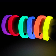 1pc Luminous Colorful Fluoresce Bracelet Children's Toys Flash Gifts LED Cartoon