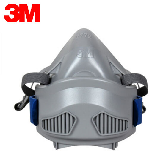 3M 7772 Half Face Mask Respirator Mask Anti-dust Mask LA&KMOL Certificated Silicone Material Safety Protective Mask LT064 skull style half face mask old silvery