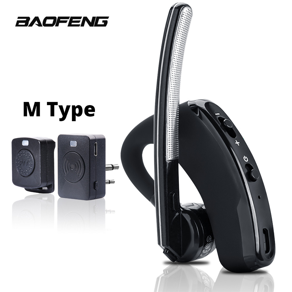 Hot Deal 975e48 Walkie Talkie Wireless Headset Ptt Bluetooth Earphone With Mic M Plug Wireless Headphone Handsfree For Moto Ham Station Cicig Co