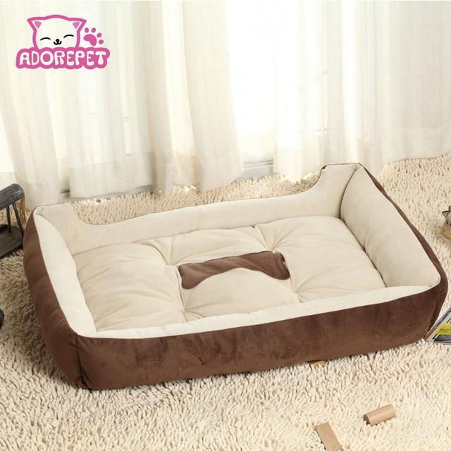 Big Dog Sofa Bed Vintage Leather Small Large House Kennel Winter Warm Fleece Pet Cat Nest Mat Cushion Golden Retriever Pitbull