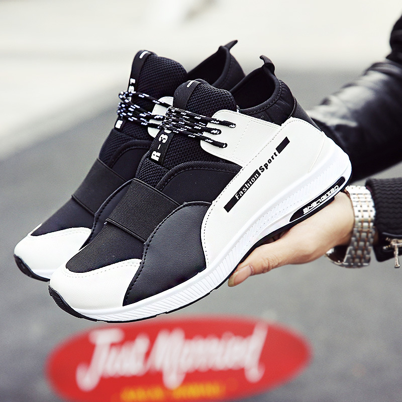 2018 New Man Fashion Casual Shoes size 39-44 Soft Spring Autumn Flock+Soft Leather Youth Trend Shoes Man Sneakers ...