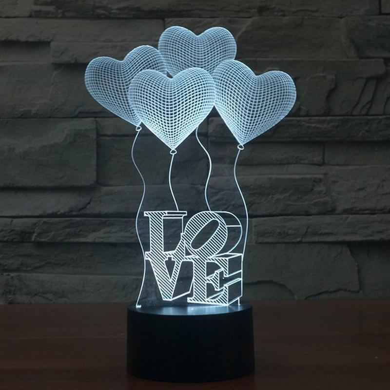 3d acrilico luz da noite lampada de 01
