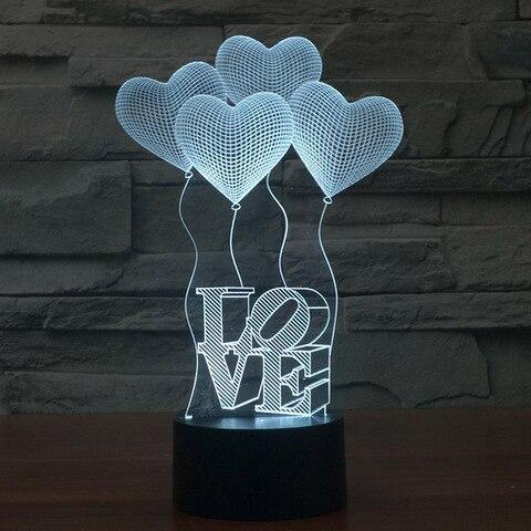 3d acrilico luz da noite lampada de