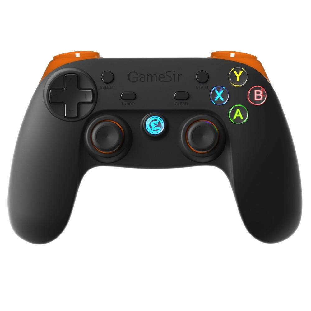 GameSir G3s 2.4Ghz Wireless Bluetooth Gamepad Joystick Phone Controller for Android Smartphone TV BOX Tablet Windows PC(Orange)